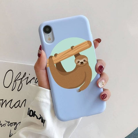 Log Hanging Sloth iPhone Case