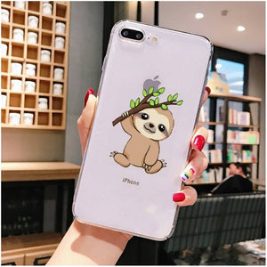 Tree Branch Sloth iPhone Case
