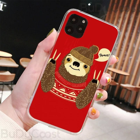 Peace Sloth iPhone Case