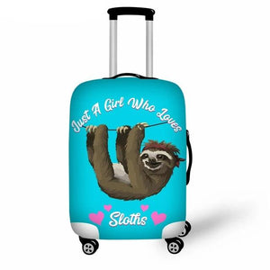 Girl Who Loves Sloth Luggage and Suitcase Cover