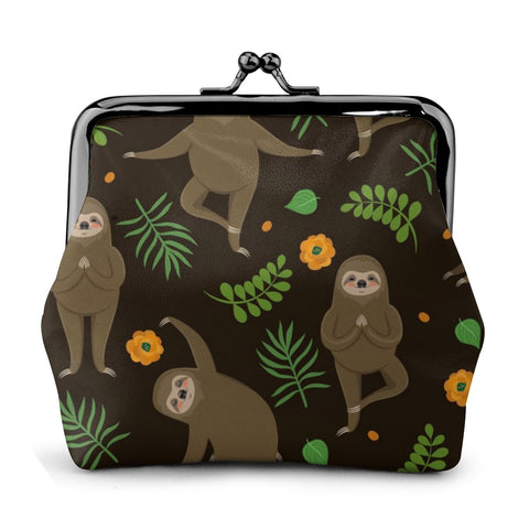 Image of Yoga Sloth Master Coin Purse