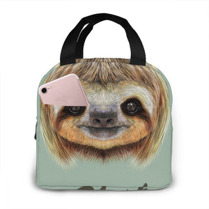 Smiling Sloth Face Lunch Bag