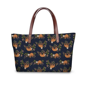 Brownish Sloth Handle Bag