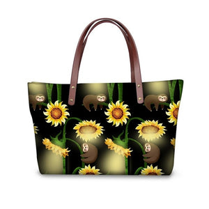Sunflower Sloth Handle Bag