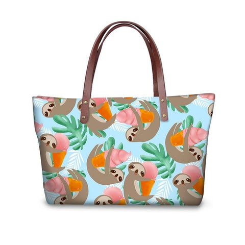 Hawaiian Sloth Handle Bag