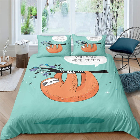 Come Here Often Sloth Bedding Set