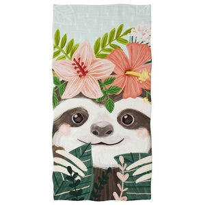 Flower Tiara Sloth Blanket