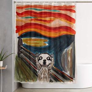 Painting Sloth Shower Curtain