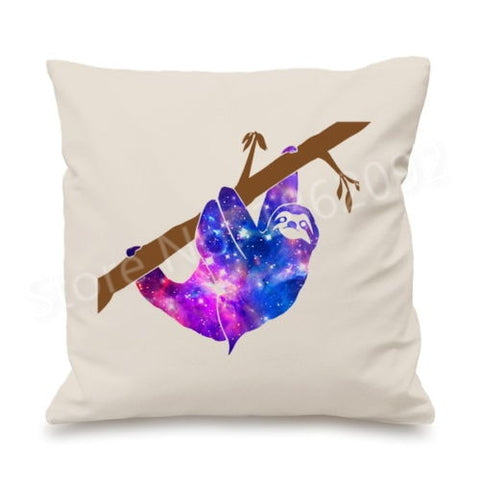 Nebular Sloth Cushion Cover - Sloth Gift shop