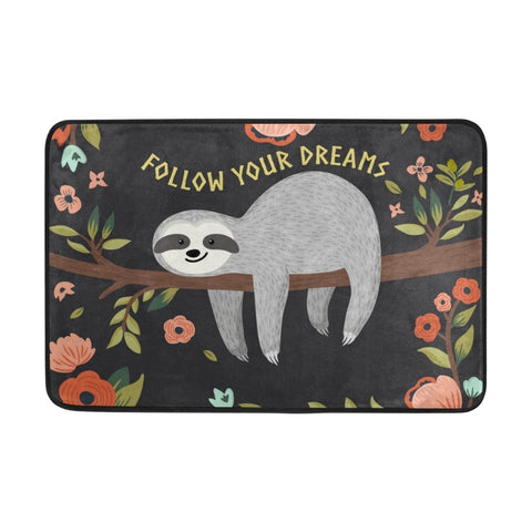 Image of Follow Sloth Dreams Door Mat - Sloth Gift shop