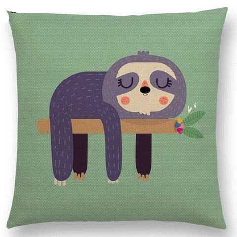 Face of Lazy Cushion Cover - Sloth Gift shop