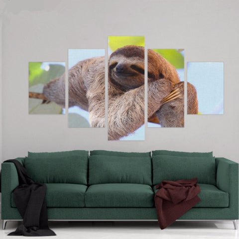 Sleeping Baby Sloth Poster