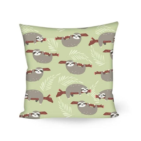 Log Sloth Cushion Cover - Sloth Gift shop