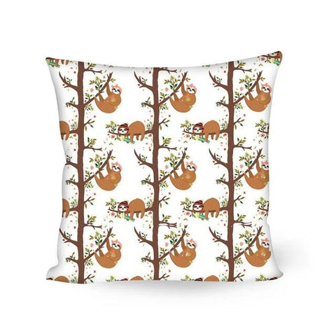 Tree Up Sloth Cushion Cover - Sloth Gift shop