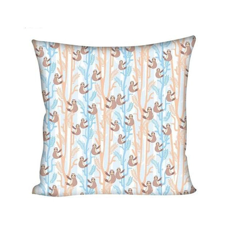 Pastel Sloth Cushion Cover - Sloth Gift shop