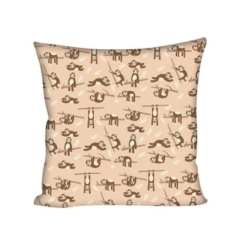 Browny Sloth Cushion Cover - Sloth Gift shop