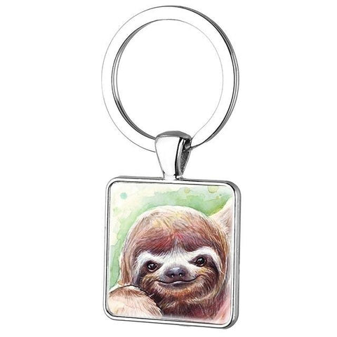 Angry Face of Sloth Keyring