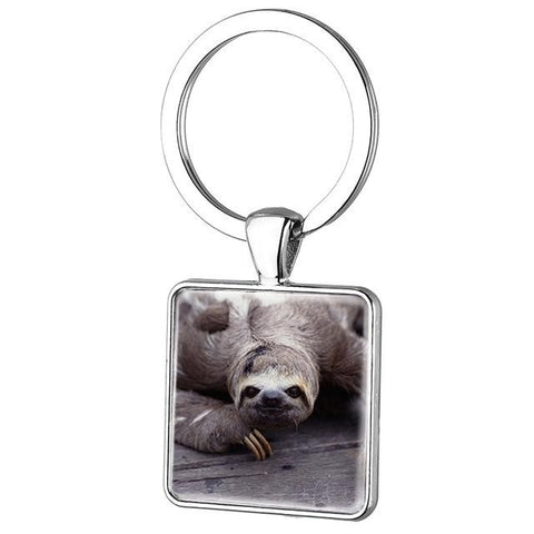 Image of Heavy Sloth Face Keyring