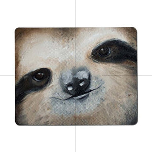 Zoom Face Sloth Mouse Pad