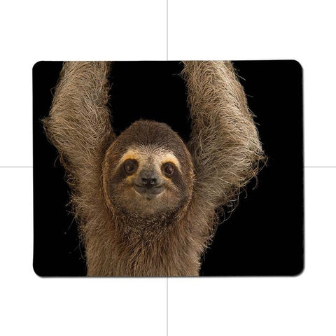 Raised Arms Sloth Mouse Pad