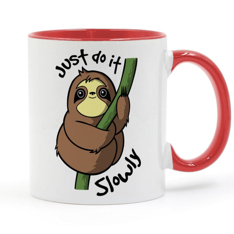 Image of Do it Slowly Sloth Mug - Sloth Gift shop