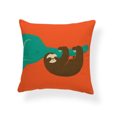 Hug of the Elephant Cushion Cover - Sloth Gift shop