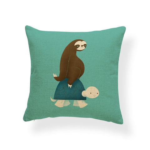Best Friends For Life Cushion Cover - Sloth Gift shop