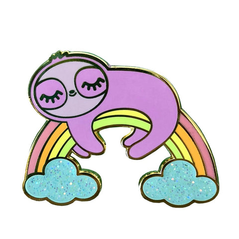Sloth Rainbow Pin