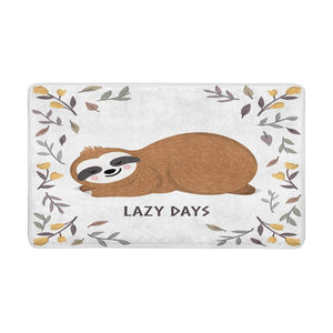 Lazy Sloth Days Door Mat - Sloth Gift shop
