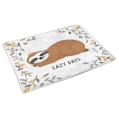 Image of Lazy Sloth Days Door Mat - Sloth Gift shop