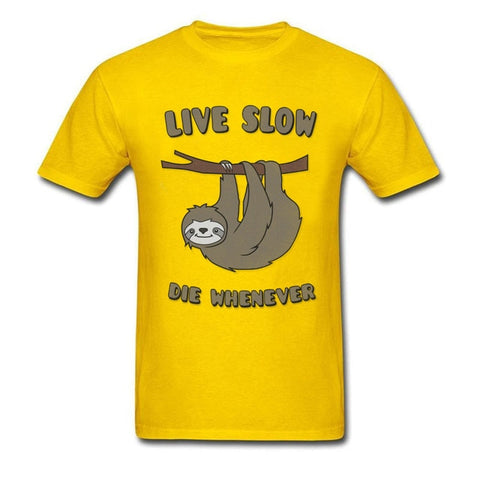 Sloth Live Slow Die Whenever T-shirt - Sloth Gift shop