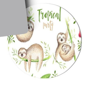 Tropical Party Sloth Mouse Pad