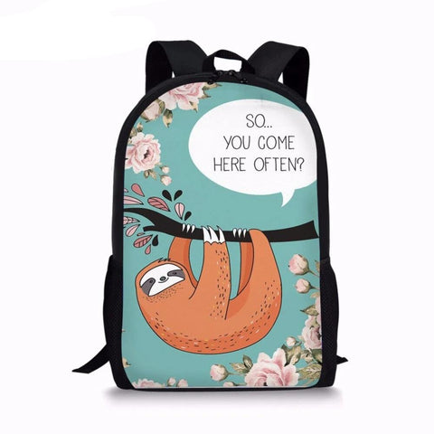 Come Sloth Travel Backpack - Sloth Gift shop