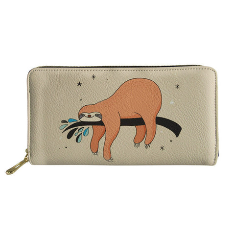 Image of Sleepy Sloth Purse / Wallet - Sloth Gift shop