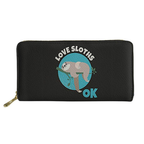 Image of Love Sloth Ok Purse / Wallet - Sloth Gift shop