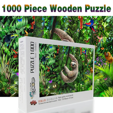 Sloth Wooden Puzzle - Sloth Gift shop