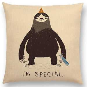 Special Sloth Cushion Cover - Sloth Gift shop