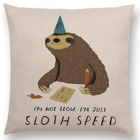 Sloth Speed Cushion Cover - Sloth Gift shop