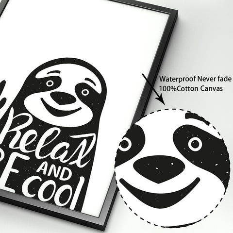 Relax and Be Cool Sloth Poster - Sloth Gift shop
