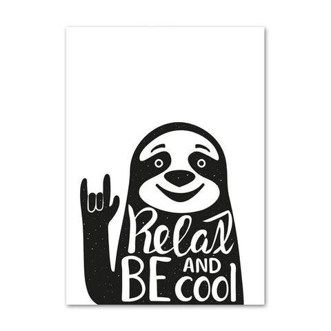 Relax and Be Cool Sloth Poster