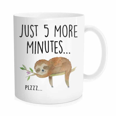 Sloth Just 5 More Minutes  Mug - Sloth Gift shop