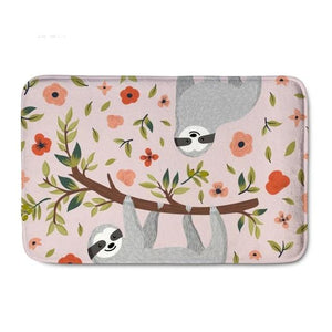Two Girly Sloth Door Mat - Sloth Gift shop