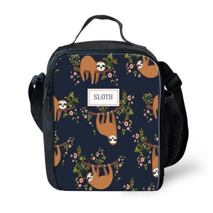 Flower Sloth Lunch Bag