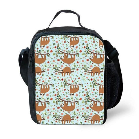 Colorful Group of Sloth Lunch Bag