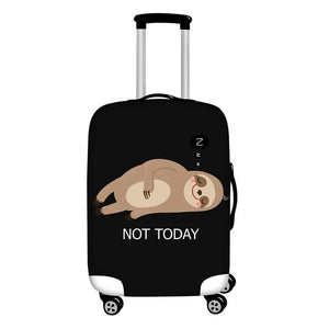 Not Today Sloth Relaxing on a Llama Luggage and Suitcase Cover