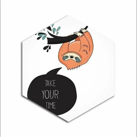 Take Sloth Time Poster - Sloth Gift shop