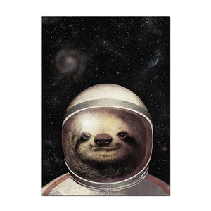 Face of the Sloth Astronaut Poster - Sloth Gift shop