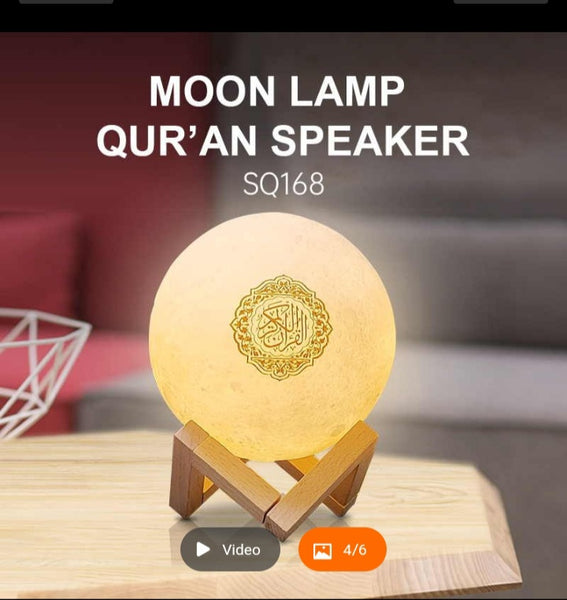 Moonlight lamp with Quran, includes 40 hadith, tafsir of all surah, and Quran Recitation word by word