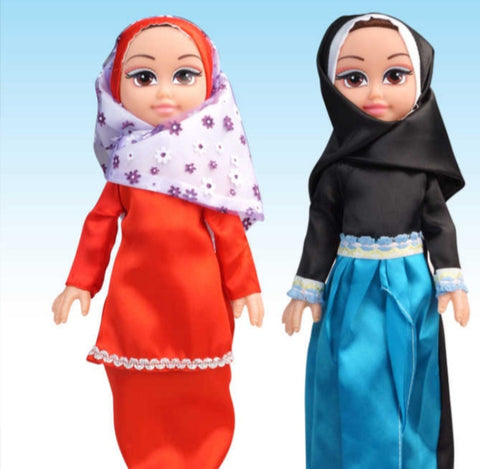 Muslim 14inches doll hijaby dolls