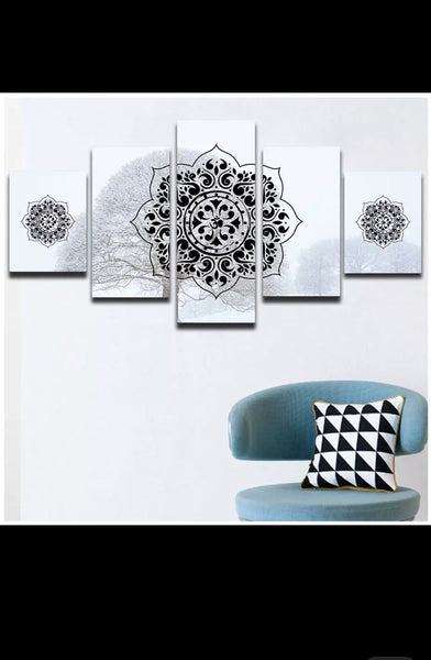 5 pieces wall art 80 inches by 150 inches xl